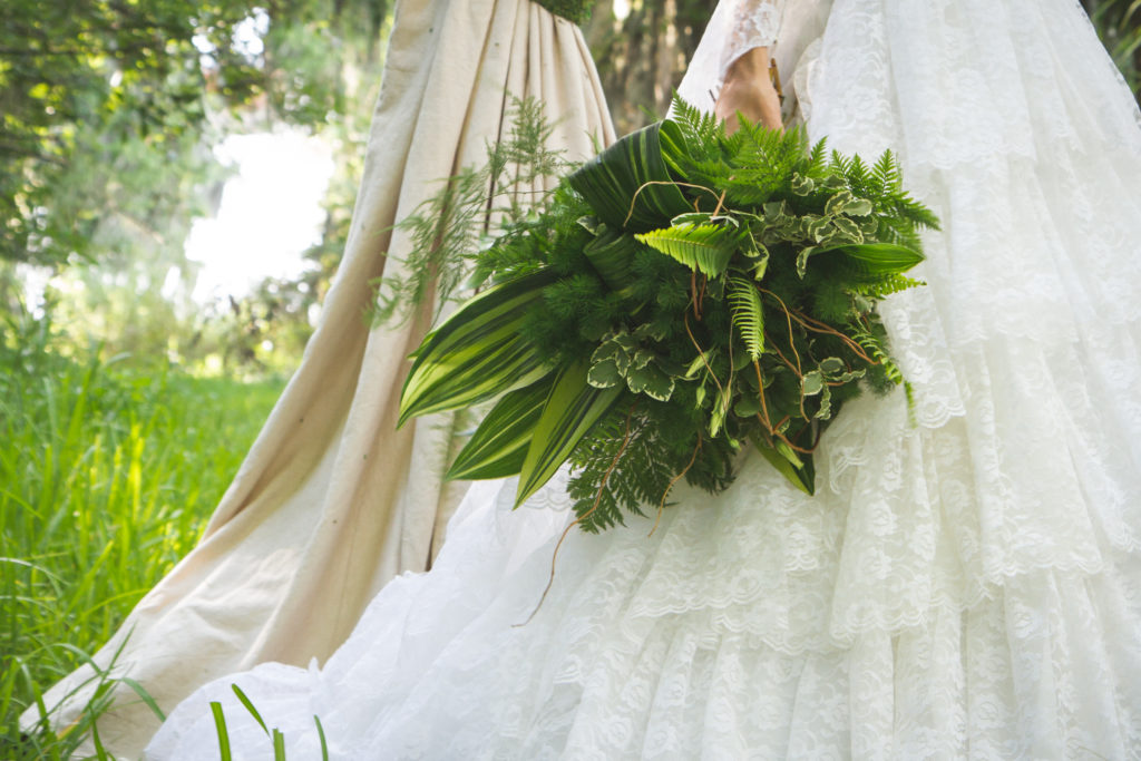 Wedding Gown and Boquet