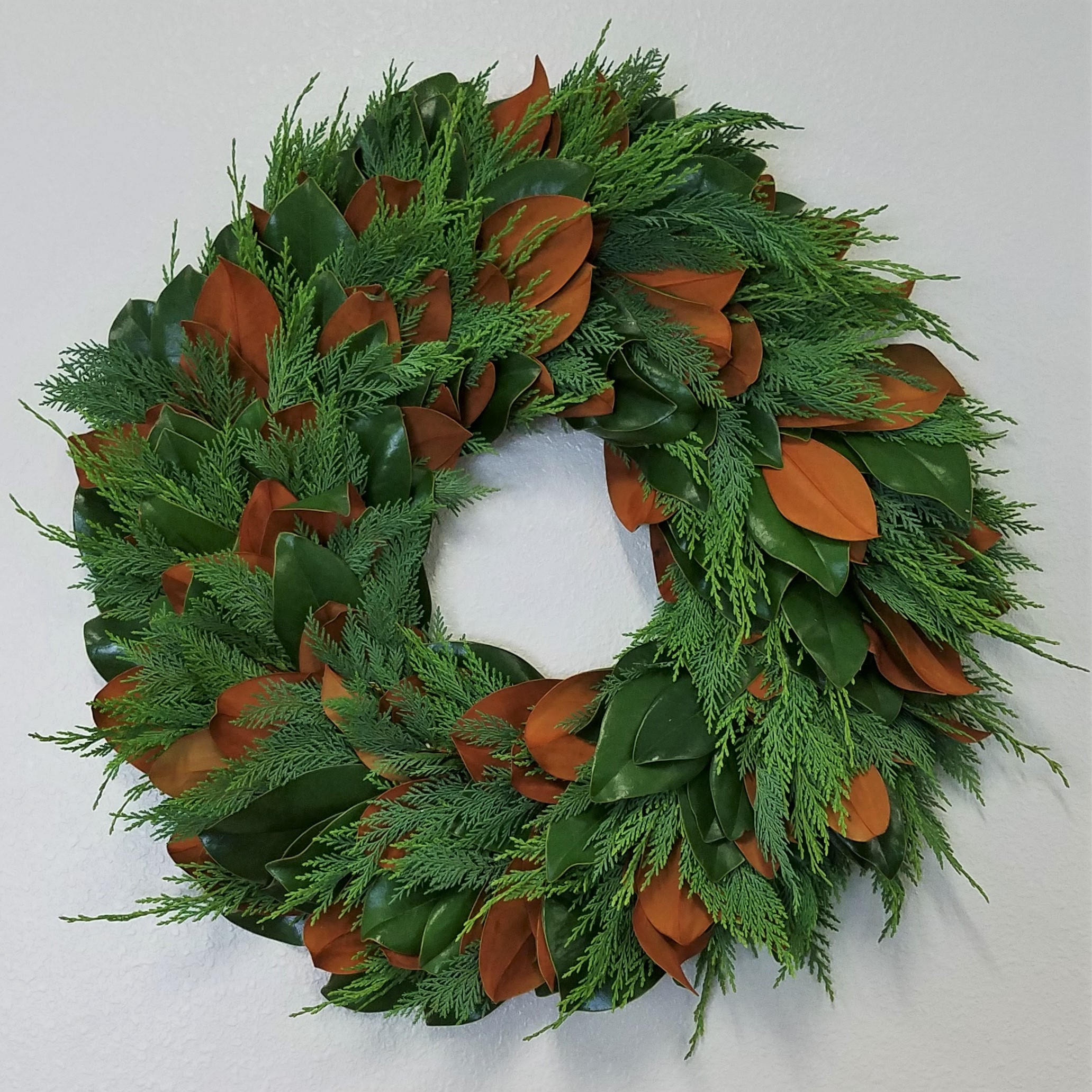 Magnolia /& Evergreen Wreath